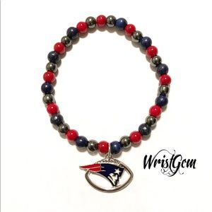 WristGem New England Patriots Football Bracelet.